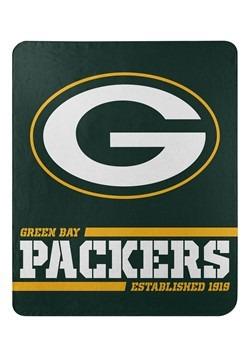 Green Bay Packers Split Wide Fleece Throw