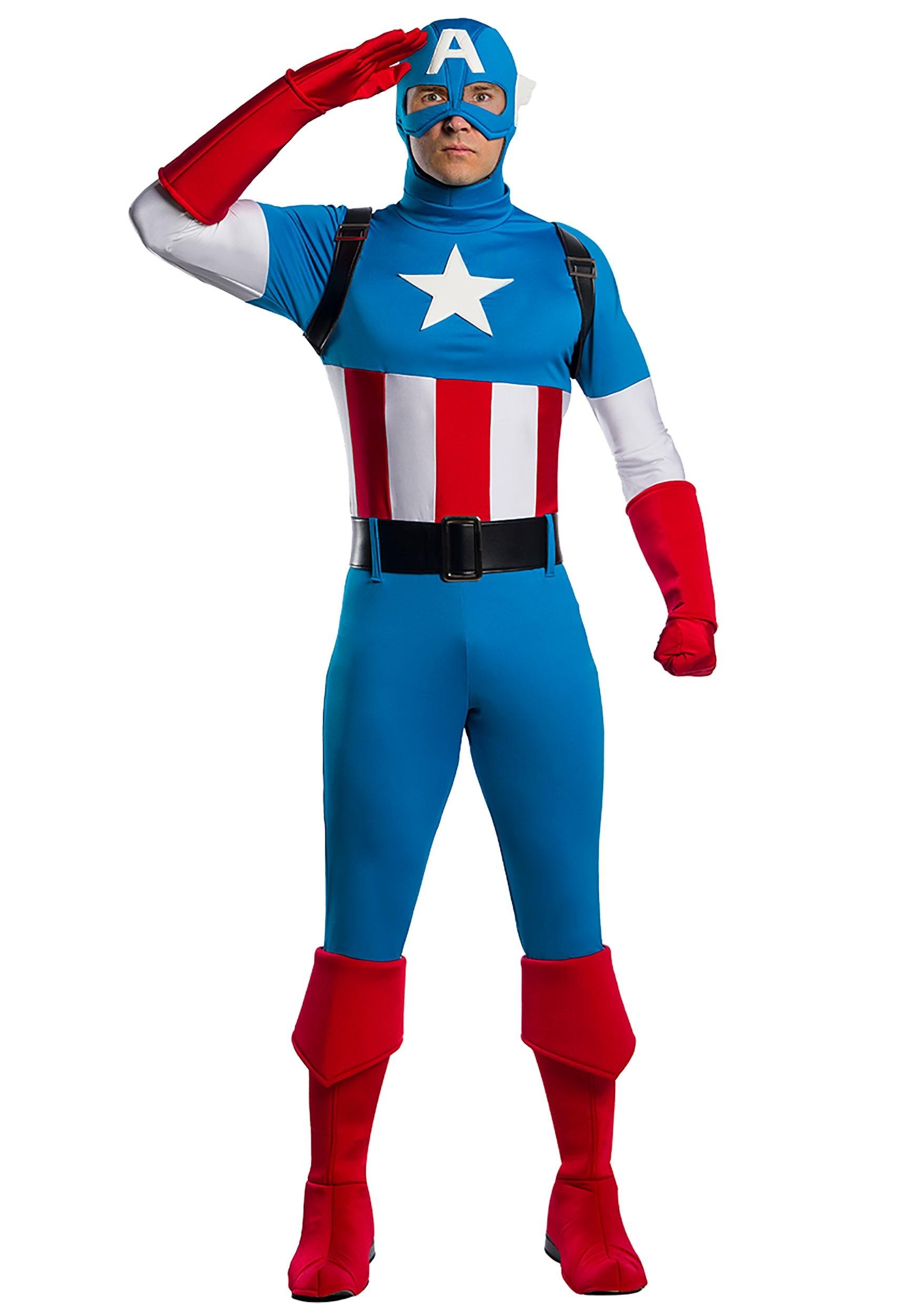 Marvel Captain America Premium Costume For Adults Endgame captain marvel cosplay costume. adult marvel captain america premium costume