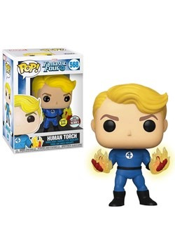 Pop! Marvel: Fantastic Four- Human Torch (suited) Glow-In-th