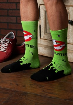 Ghostbusters Slime Knit Adult Crew Socks