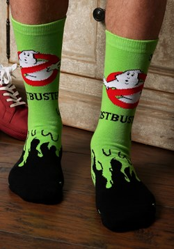 Ghostbusters Slimer Knit Adult Crew Socks