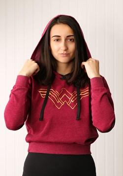 Wonder Woman Burnout Crop Pullover Hoodie
