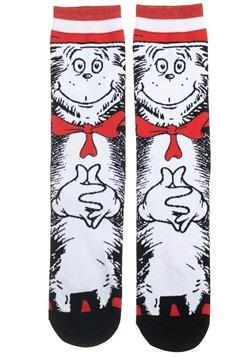 Dr. Seuss Cat in the Hat 360 Character Crew Sock Alt 1