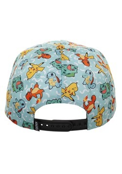 Pokemon All Over Character Snapback Alt 1