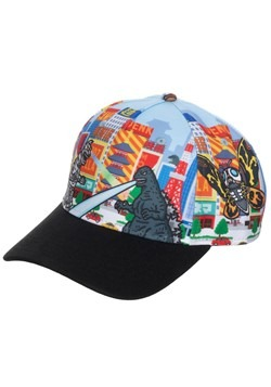 Godzilla All Over Print Pre-Curved Snapback