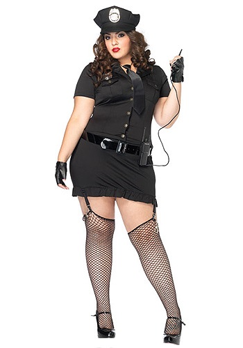 Women's Dirty Cop Costume Plus Size