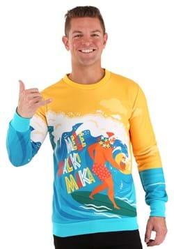 Mele Kalikimaka Surfing Santa Ugly Christmas Sweater Alt 4
