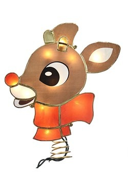 Rudolph Lighted Tree Topper w/ Lights