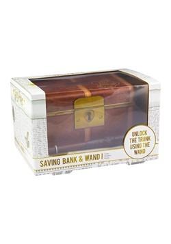 Harry Potter Hogwarts Trunk Savings Bank & Wand