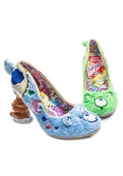Irregular Choice Care Bears Grin & Share It Green/Blue Heels