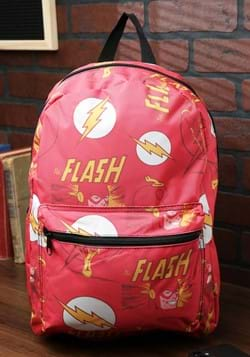 The Flash All-Over Comic Book Print Backpack-1