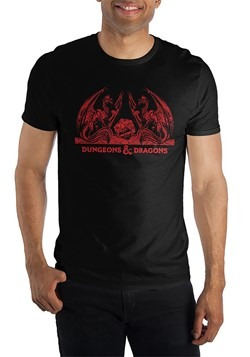 Mens Dungeons and Dragons Black/Red T-Shirt