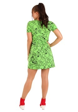 Womens Ghostbusters Slime Dress Alt 1