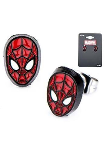 Marvel Spider-Man Face Front Stud Earrings