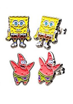 Nickelodeon SpongeBob & Patrick Stud Earrings Set
