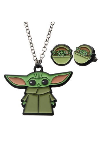 Star Wars The Mandalorian The Child Necklace Earring Set