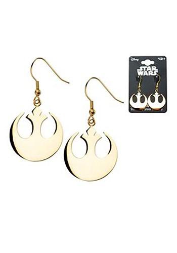 Star Wars Rebel Alliance Symbol Hook Dangle Earrings