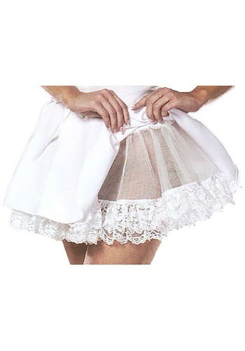 White Lace Sheer Petticoat
