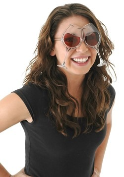 Clear/Rose Wine Goblet Costume Eyeglasses