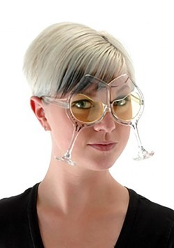 Adult Wine Goblet Eyeglasses Clear/Yellow