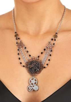 Gear Chain Necklace Antique