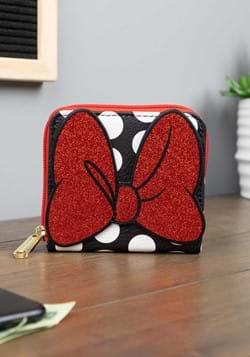 Minnie Mouse Zip Around Square Wallet