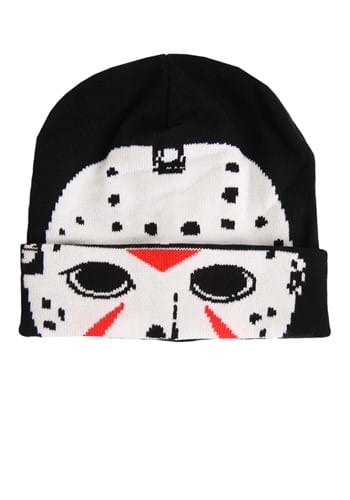Friday the 13th Jason Hockey Mask Roll Down Beanie