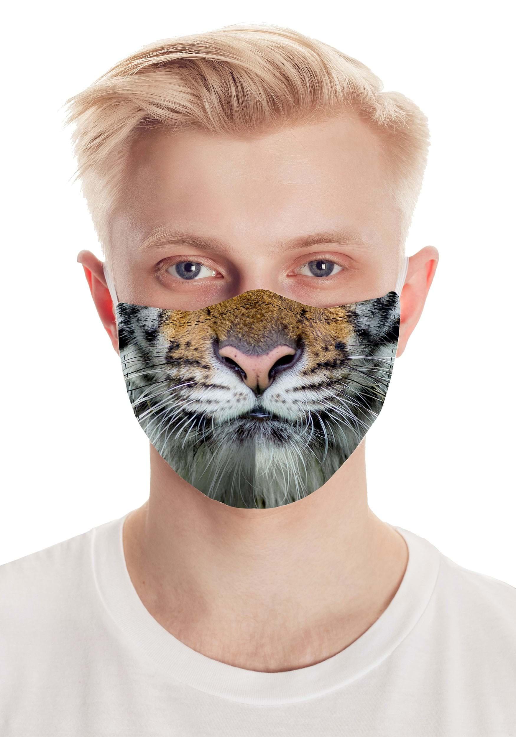 Get 'Em Tiger Realistic Face Mask
