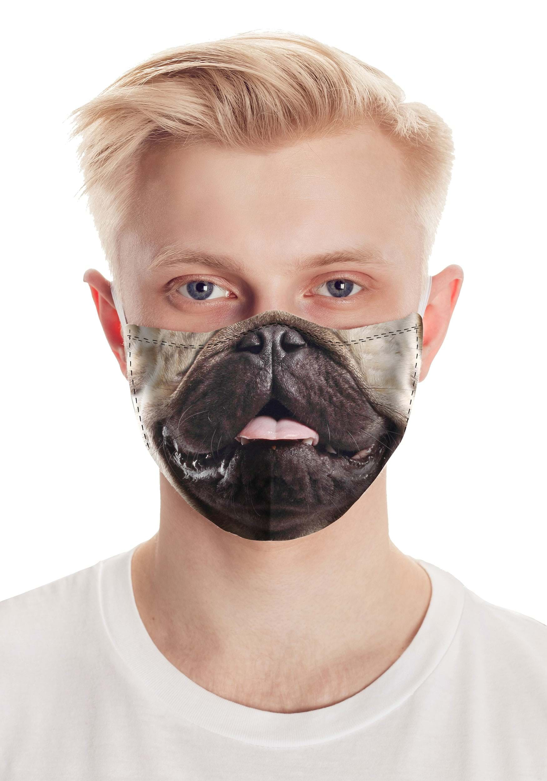 Pug Life Realistic Face Mask