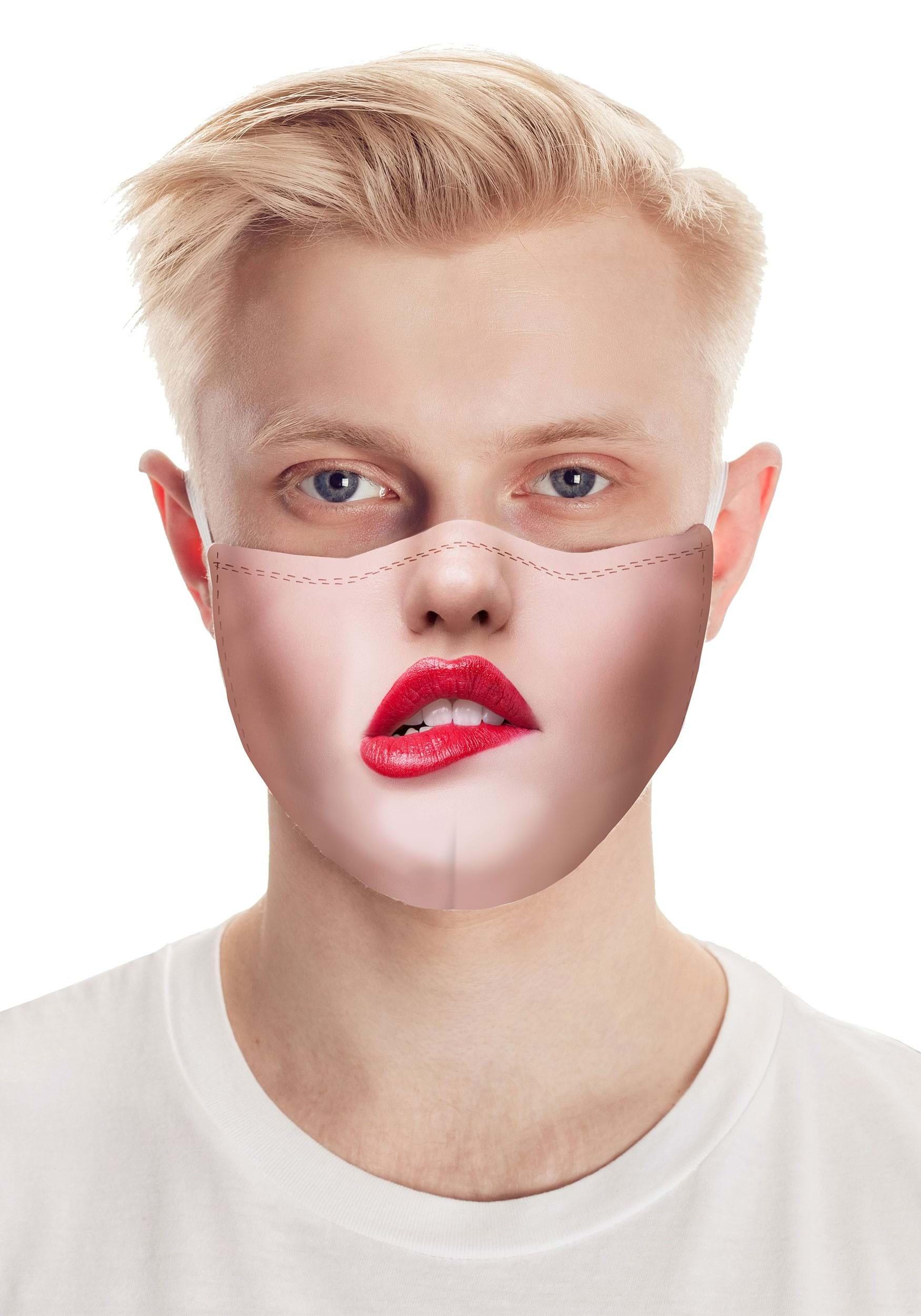 Pouty Lips Safety Face Mask