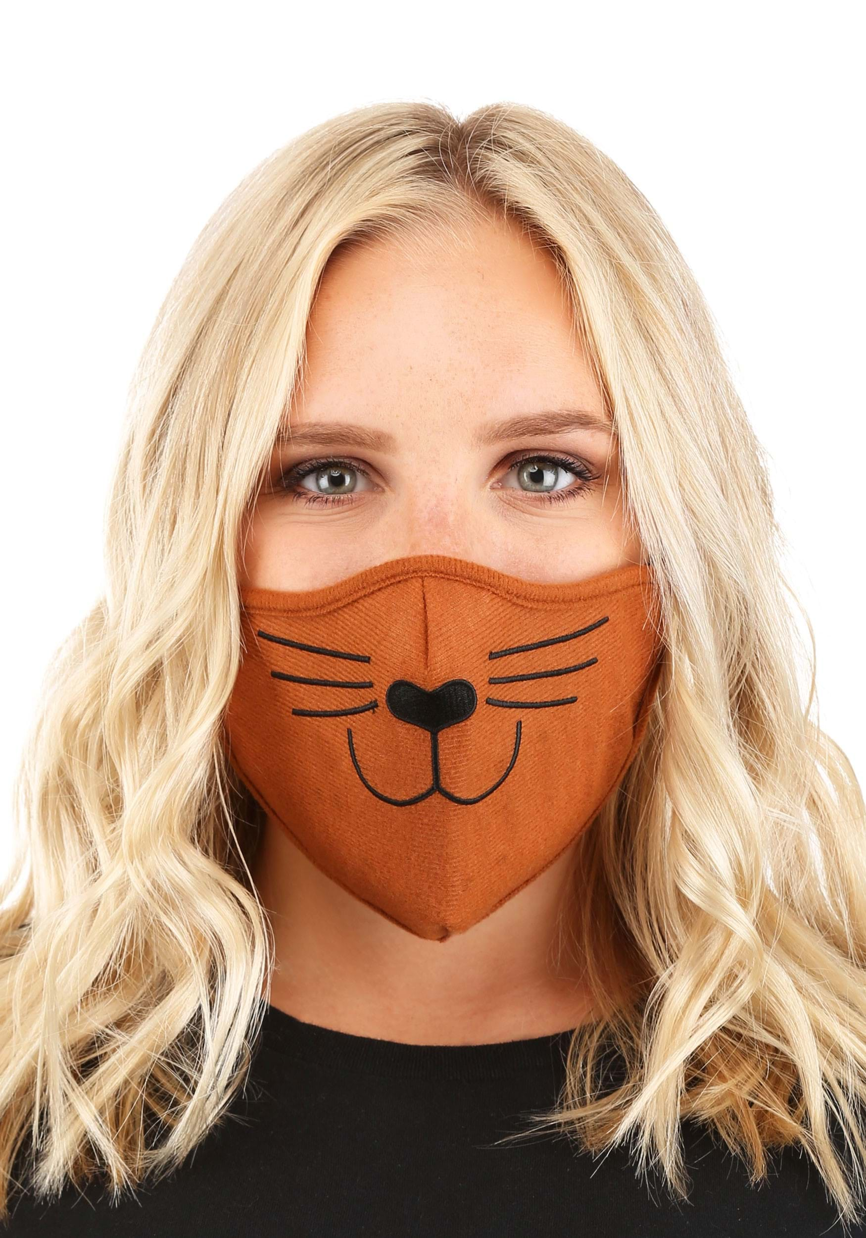 Cat Face Mask Brown for Adults