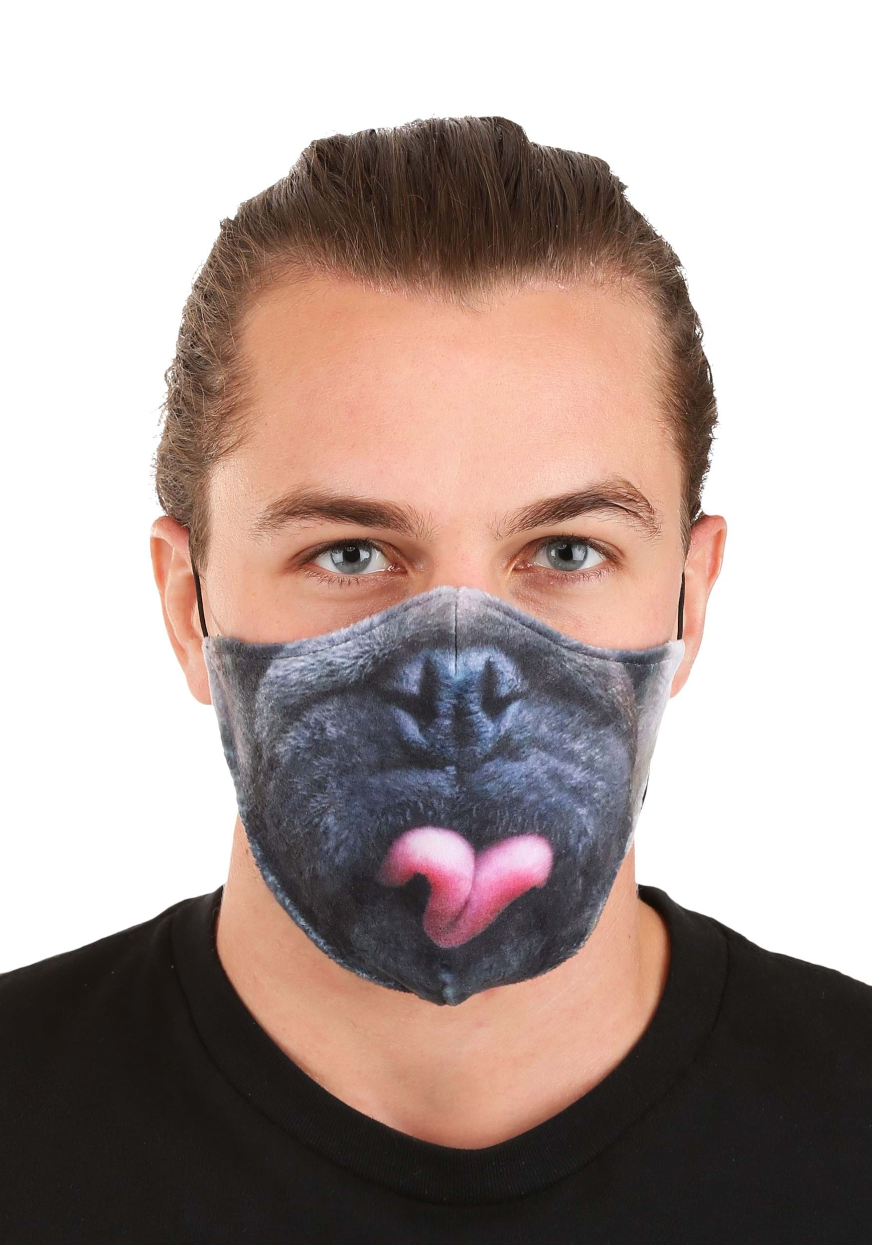 Pug Sublimated Face Mask for Adults