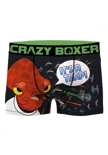 Crazy Boxers Star Wars Admiral Ackbar Mens Boxer Brief