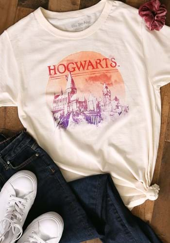Adult Harry Potter Red Moon Hogwarts T-Shirt