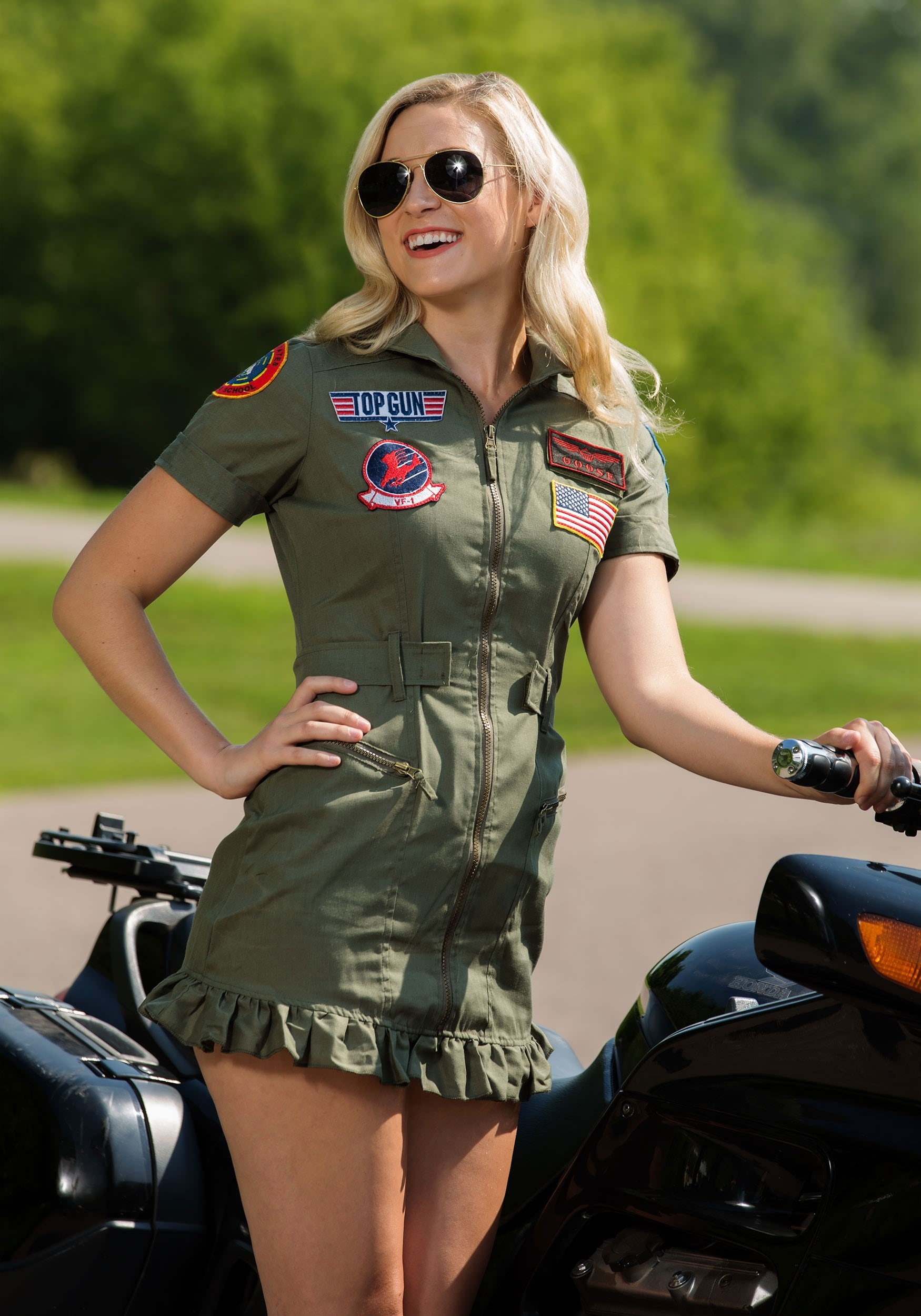 5fa79f0225c Top Gun Flight Dress Costume for Women