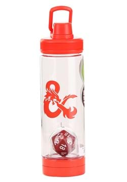 Dungeons and Dragons 20 Sided Die Inside Molded Water Bottle