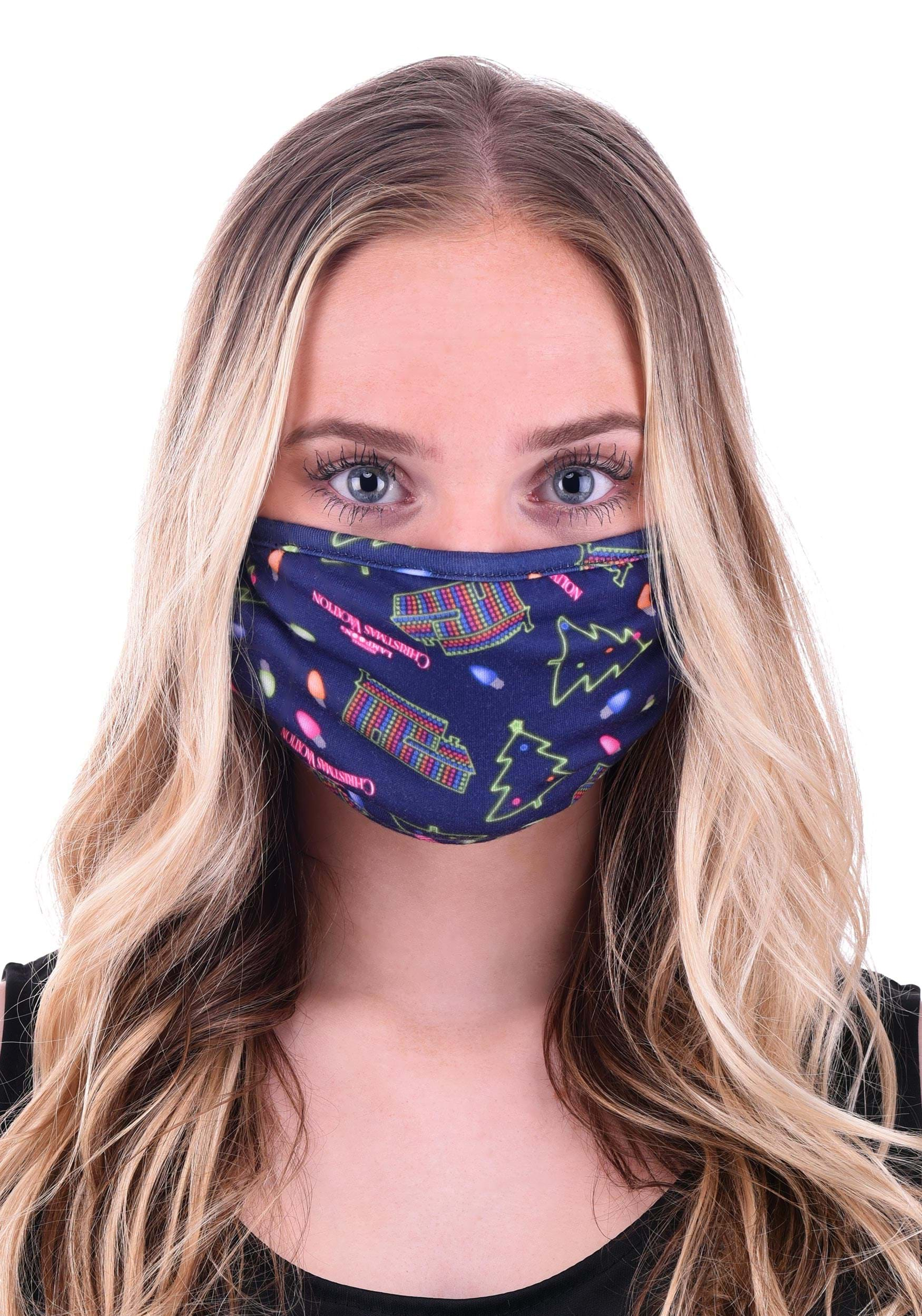 Christmas Vacation Neon Allover Print Face Mask
