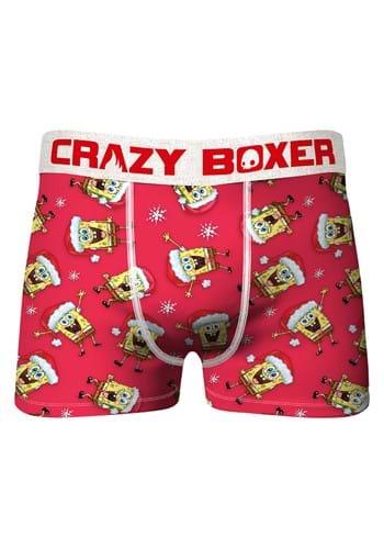 Crazy Boxer Spongebob Squarepants Santa Boxer Briefs for Men