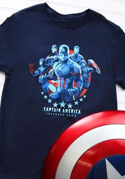 Marvel Saga Captain America Navy Adult T-Shirt