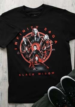 Marvel Saga Black Widow Unisex Black Shirt