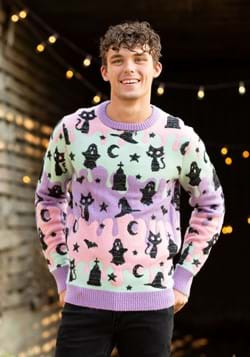 Pastel Ugly Halloween Sweater for Adults Alt 1