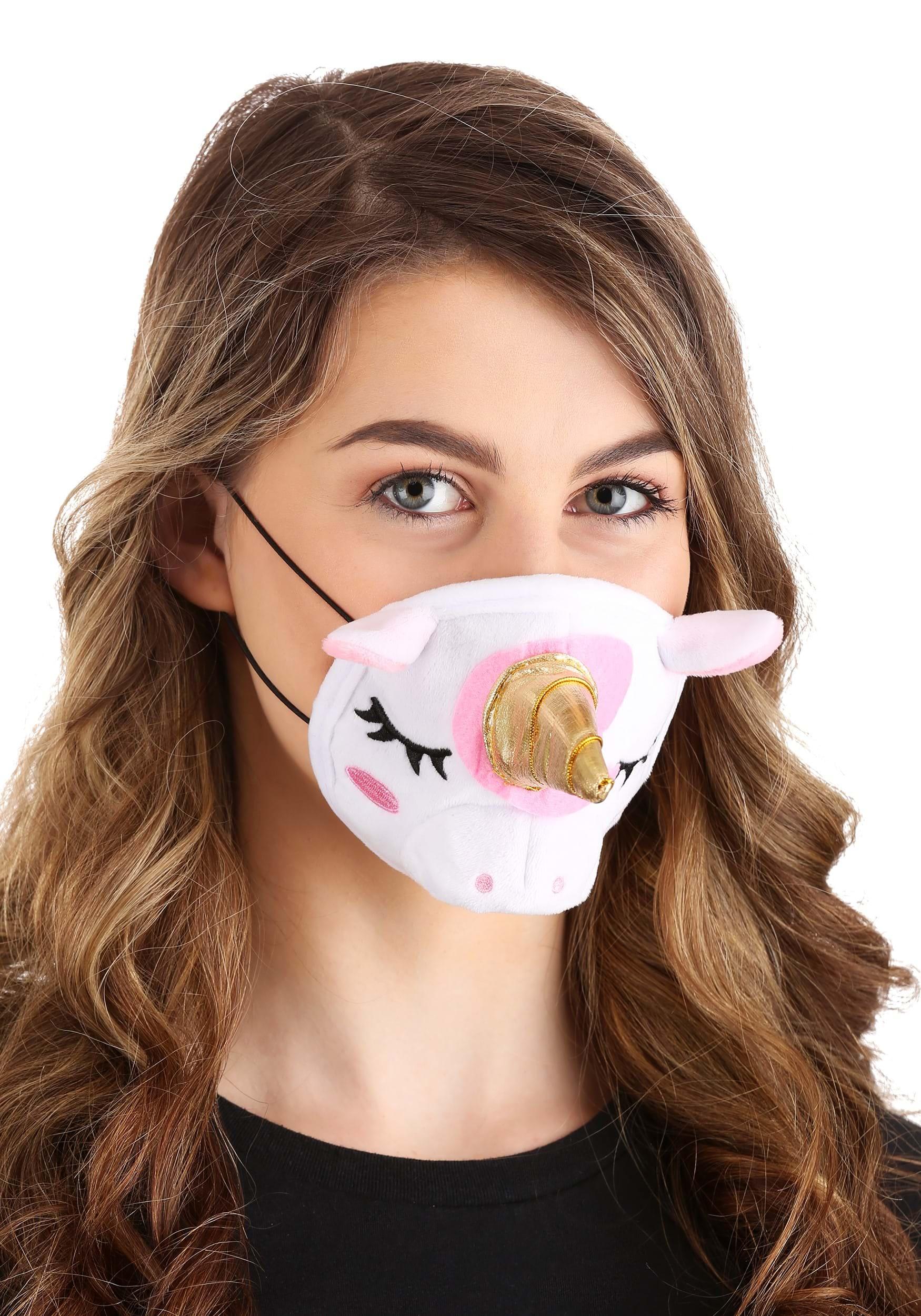 Soft Unicorn Face Mask