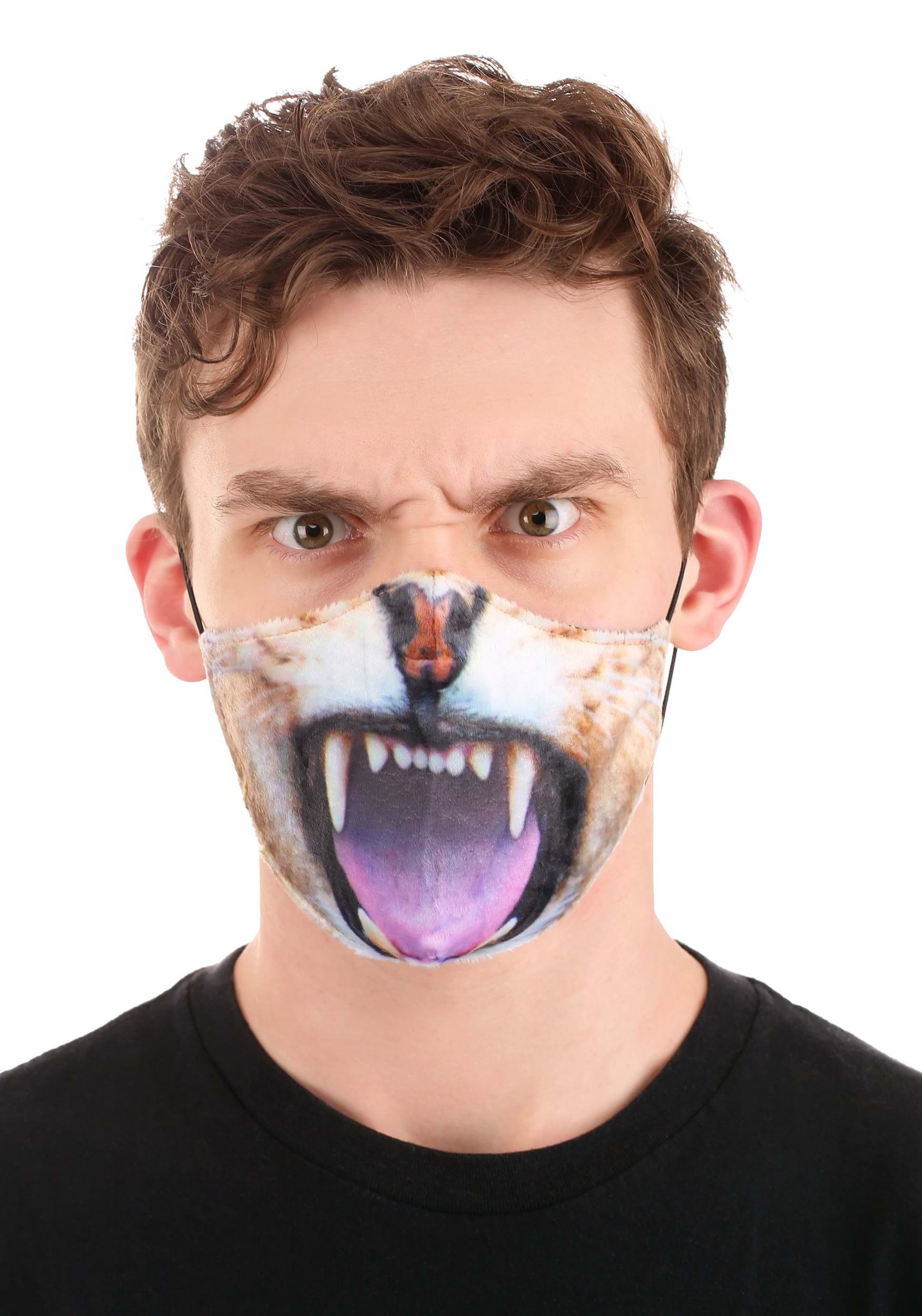 Lion Sublimated Adult Face Mask