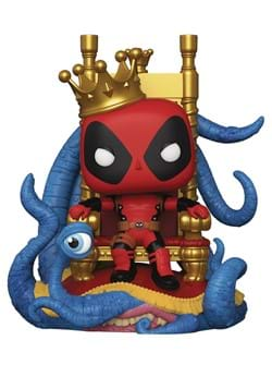 Funko Pop Deluxe Marvel Heroes King Deadpool on Throne