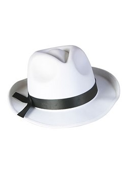 White Fedora Mobster Hat