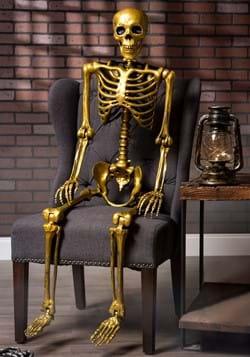 60 Gold Life Size Posable Skeleton Prop