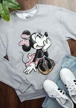 Adult Minnie Mouse Sketch Gray Sweatshirt