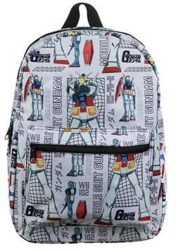 Mobile Suit Gundam Sublimated Backpack