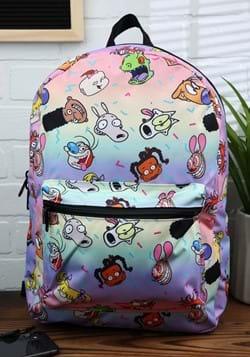 90s Nick Toons Rainbow Backpack-1