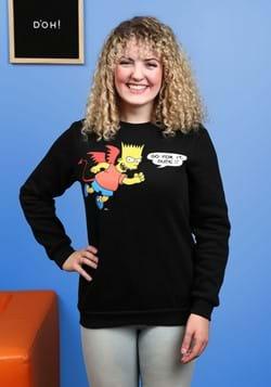 Bart Simpson Devil Unisex Crewneck Sweater